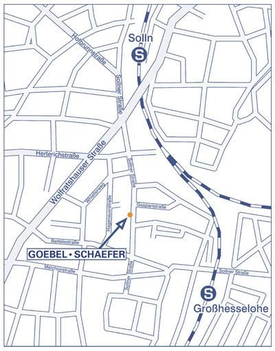 Karte von München Solln